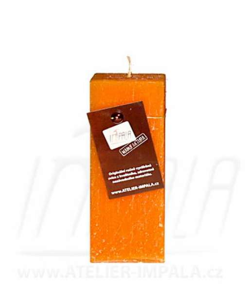 Svíčka Profile Orange hranol 6x15cm