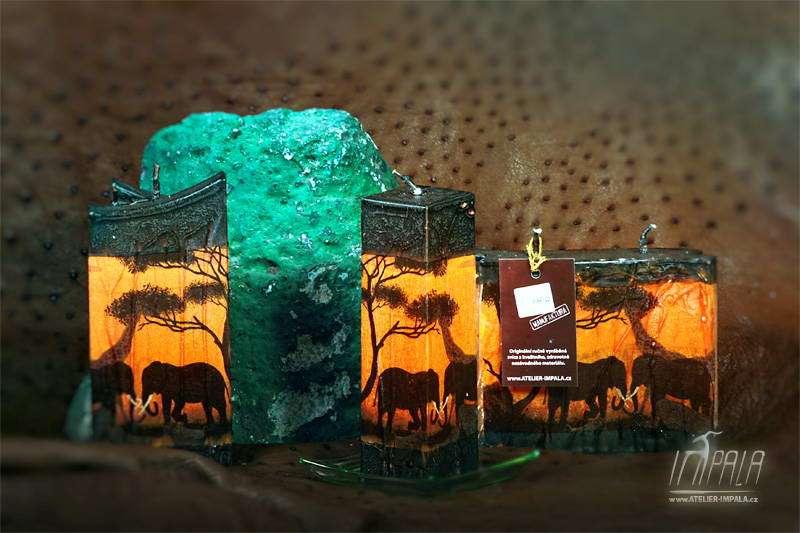 svíčky Impala - afrika silhouette